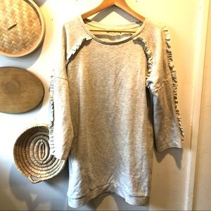 Sweatshirt dress with ruffle design